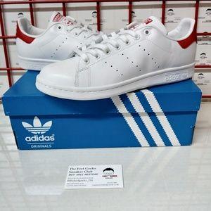 Adidas Originals Stan Smith White & Red Men's 9.5